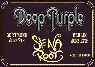 siena root support bei 2 konzerten in deutschland | deep purple tour
